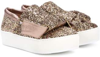 N°21 Glitter slip-on sneakers