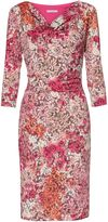 Gina Bacconi Pink Lace Effect Jersey Dress