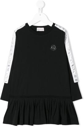 Moncler Enfant Logo Plaque Dress
