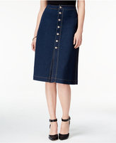 Style&Co. Style & Co. Button-Front Denim Skirt, Only at Macy's