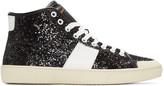 Saint Laurent Black Glittered SL/37 Court Classic Sneakers