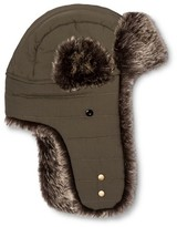 Mossimo Men's Channel Quilted Nylon Fur Trapper Green One Size