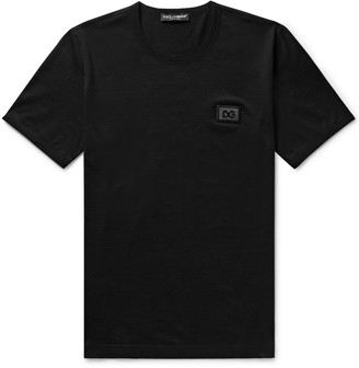 Dolce & Gabbana Logo-Appliqued Cotton-Jersey T-Shirt