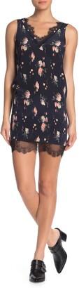 AllSaints Camia Meadow Floral Silk Lace Trim Dress