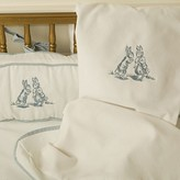 The Well Appointed House Petite Moi Bunnies Embroidered Four Piece Crib Set In Blue
