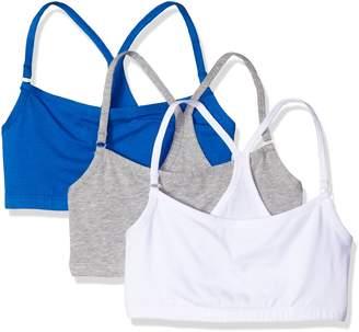 Bestform Women's Junior 3 Pack Cotton Blend Racerback Crop Bra