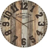 Pier 1 Imports Oversize Industrial Wood & Iron Wall Clock