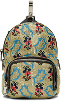 Miu Miu Multicolor Tapestry Chain Backpack