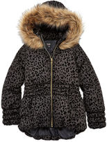 Asstd National Brand by&by Leopard Fleck Puffer Jacket - Girls