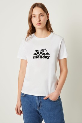 French Connection Panda Monday Graphic T-shirt