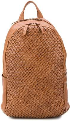 Officine Creative woven leather backpack
