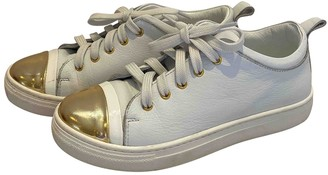 Lanvin White Leather Trainers