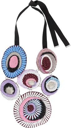 Emilio Pucci Beaded Silk Necklace