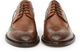 Reiss Reiss Ash - Leather Brogues In Brown