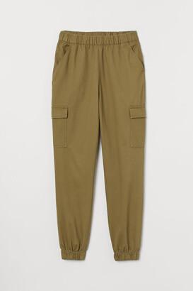 H&M Twill Cargo Pants - Green