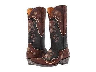 Old Gringo Bonnie Pipin (Black/Bone) Cowboy Boots