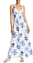 Tommy Bahama Art Of Palms Halter Print Linen Dress