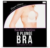 Fashion Forms Women's Backless Strapless U Plunge Bra