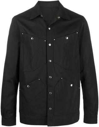 Rick Owens Snap-Button Shirt Jacket
