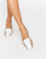 Asos JALLIN Leather Braid Summer Shoes