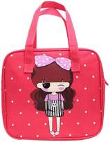 Black Temptation Cute Cartoon Lunch Tote Bag Reusable Lunch Box Bag for Kids/Students