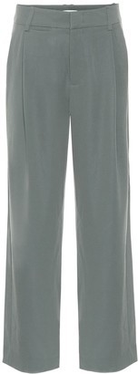 Vince High-rise crepe wide-leg pants