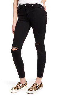 NA-KD Ripped Ankle Skinny Jeans