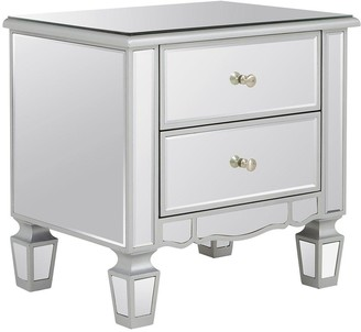 Mirage 2 Drawer Mirrored Bedside Chest