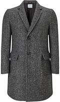 Jigsaw Herringbone Wool Coat, Grey