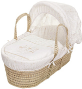 O Baby Obaby Hello Little One Moses Basket - Cream