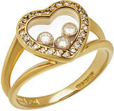 Chopard Happy Hearts 18k Yellow Gold Diamond Ring, Size 5.75
