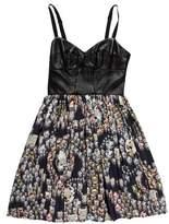 Amanda Uprichard Leather & Silk Dress