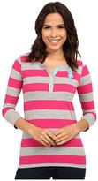 U.S. Polo Assn. 3/4 Sleeve Striped Cotton Jersey T-Shirt