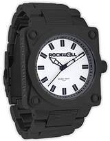 Rockwell Time Men's SF104 747 Black-Plated Stainless Steel and White Watch