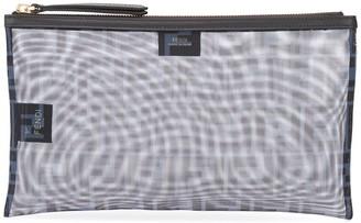 Fendi logo mesh clutch bag