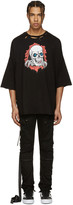 Unravel Black Distressed Brigade T-shirt