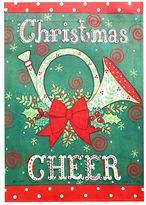 """Evergreen Christmas Cheer"""" Indoor / Outdoor Garden Flag"""