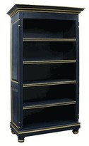 The Well Appointed House Navy Blue Bookcase with Gold Gilding