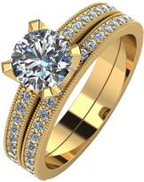 Moissanite 9ct Gold 1.4-Carat Two Piece Bridal Set