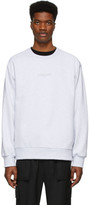 Juun.J Grey Symmetry Sweatshirt