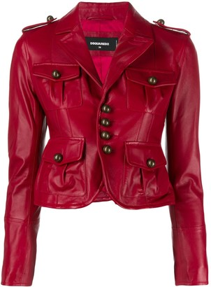 DSQUARED2 military style blazer jacket