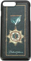 Dolce & Gabbana medal print iPhone 7 Plus case - men - Leather/plastic - One Size