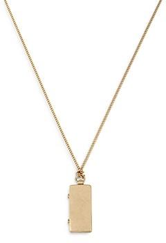 AllSaints Mirror Locket Pendant Necklace, 30