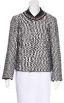Tory Burch Zip-Up Knit Jacket