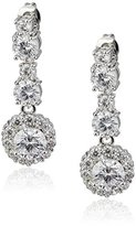 Nina Dorry Linear Cubic Zirconia Drop Earrings