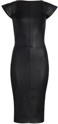 Rick Owens Easy Sarah Stretch Leather Dress