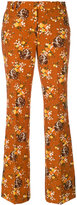 Coach floral print flared trousers - women - Polyester/Spandex/Elastane - 2