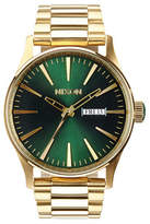 Nixon Analog Sentry 38 Goldtone Bracelet Watch