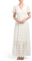 Juniors Lace Maxi Dress
