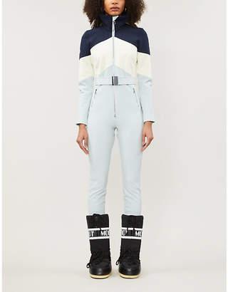 Cordova Alta belted colour-block waterproof twill ski jumpsuit